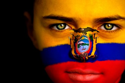 Ecuador Flag Face Painting