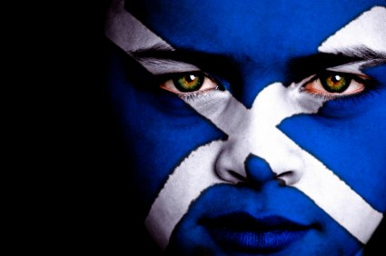 Scotland Flag Face Painting