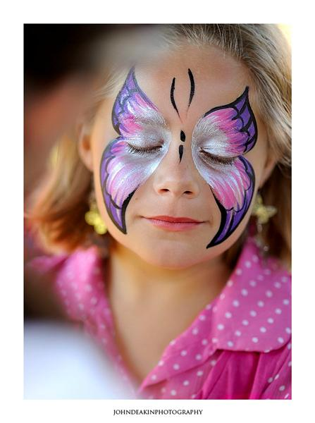 Pearly Butterfly Face Painting